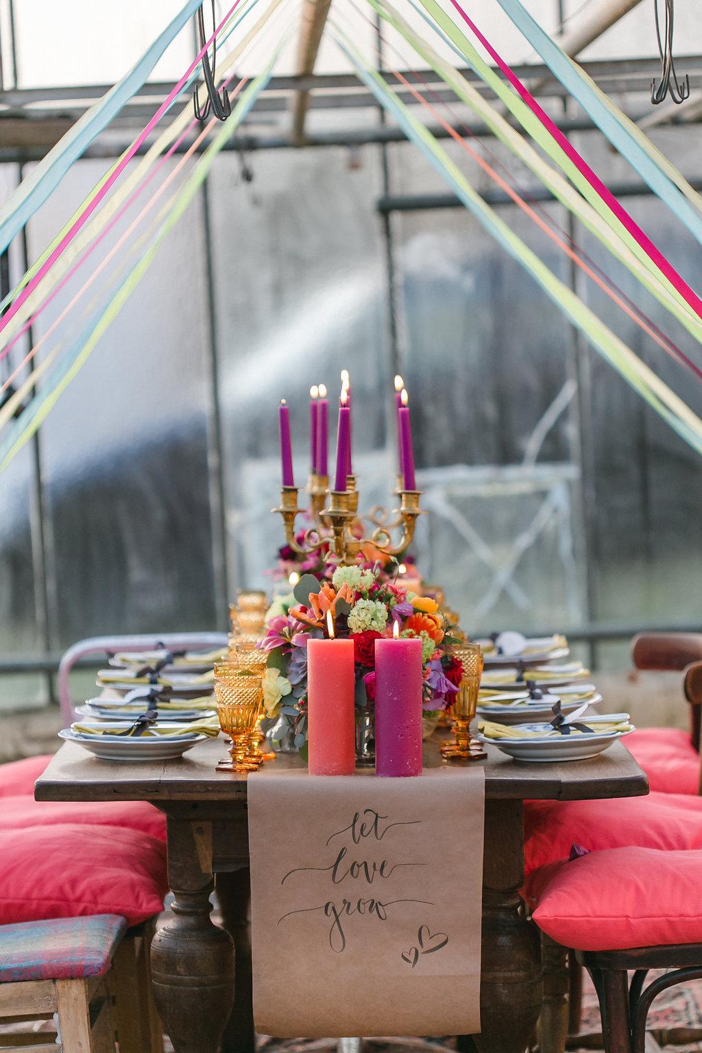 Bohemian Spring Hochzeitstafel