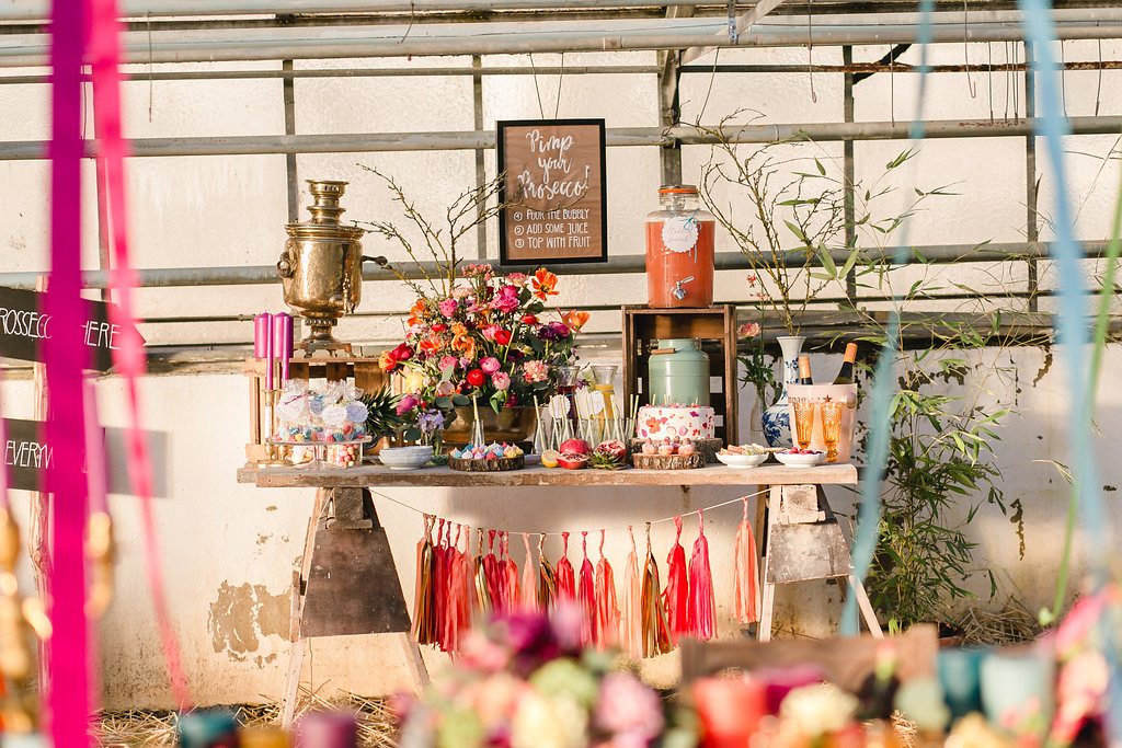 Bohemian Spring Wedding_Buffet