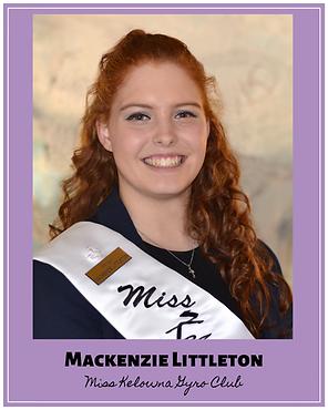 Mackenzie Littleton Miss Kelowna Gyro Club
