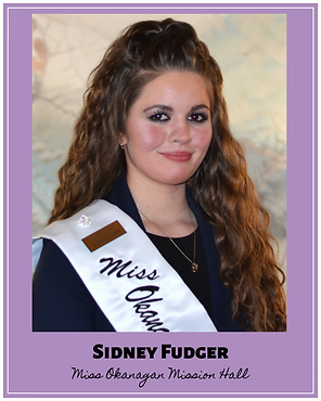 Sidney Fudger Miss Okanagan Mission Hall