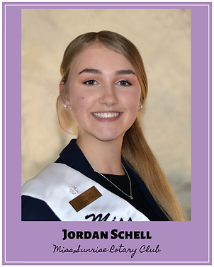 Jordan Schell Miss Sunrise Rotary Club