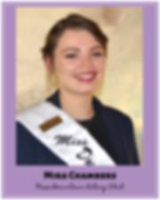 Mira Chambers Miss Downtown Rotary Club