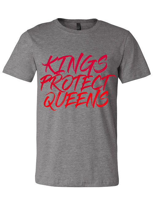 Kings Protect Queens (Crewneck) Grey