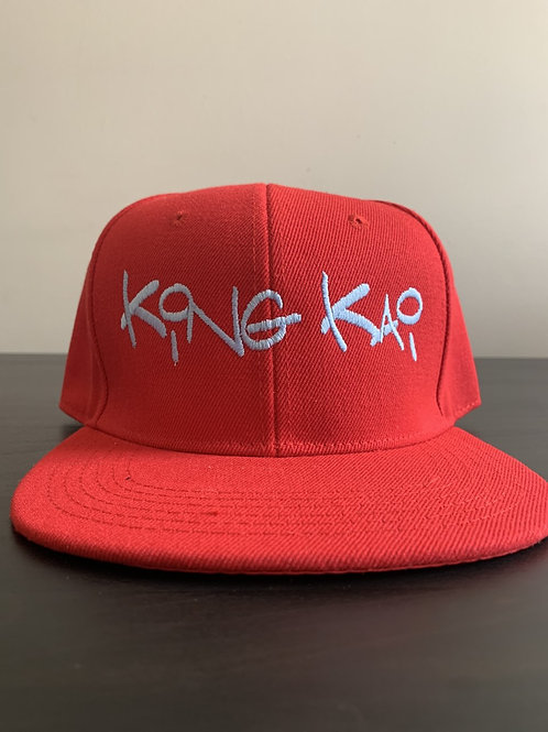 King Kai Snapback (Red/Sky blue)