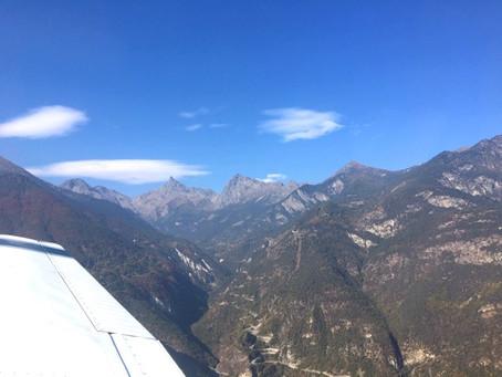 A Flight through the Val d'Aosta
