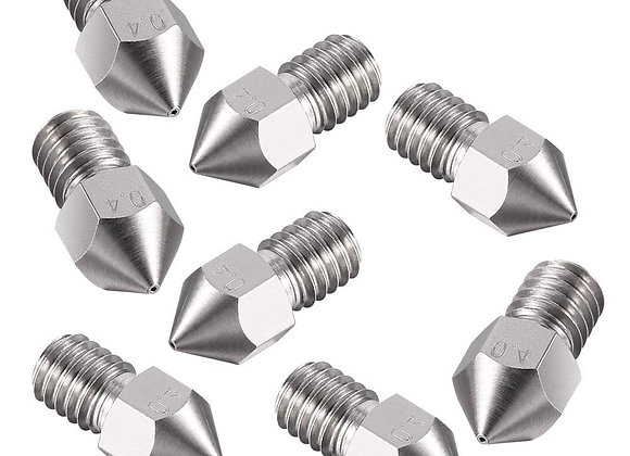 1.75/0.4mm MK8 Stainless Steel Nozzle M6 Thread