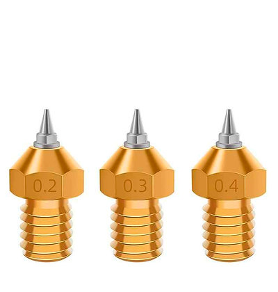 New E3D V6 Nozzle con M6 / 1.75mm Removable Stainless Steel Tip. 0.4mm / 1.75mm