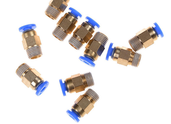 Blue Head Remote Tube Plug M6 - OD4 Tube - 2mm Hexagonal Hole