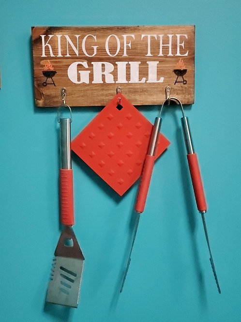 Wooden Grill Tool Board