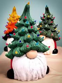 *PREORDER* Christmas Tree Gnome Bisque - HOT ITEM THIS CHRISTMAS