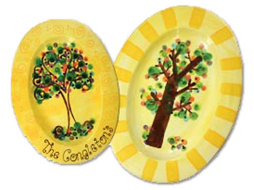 Large Oval Rim Platter