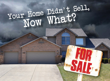 5 Reasons your home didn't sell