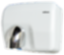 hand and face hand dryer in white