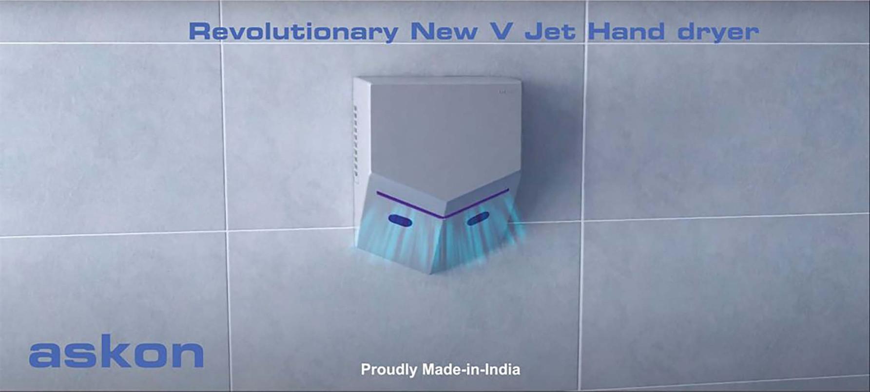 ASH-VJ V Jet hand dryer