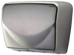 twin blower hand dryer stainless steel mirror finish