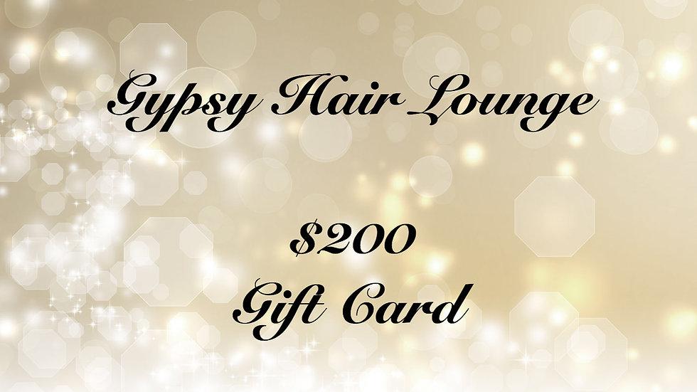 Gypsy Hair Lounge Gift Card $200
