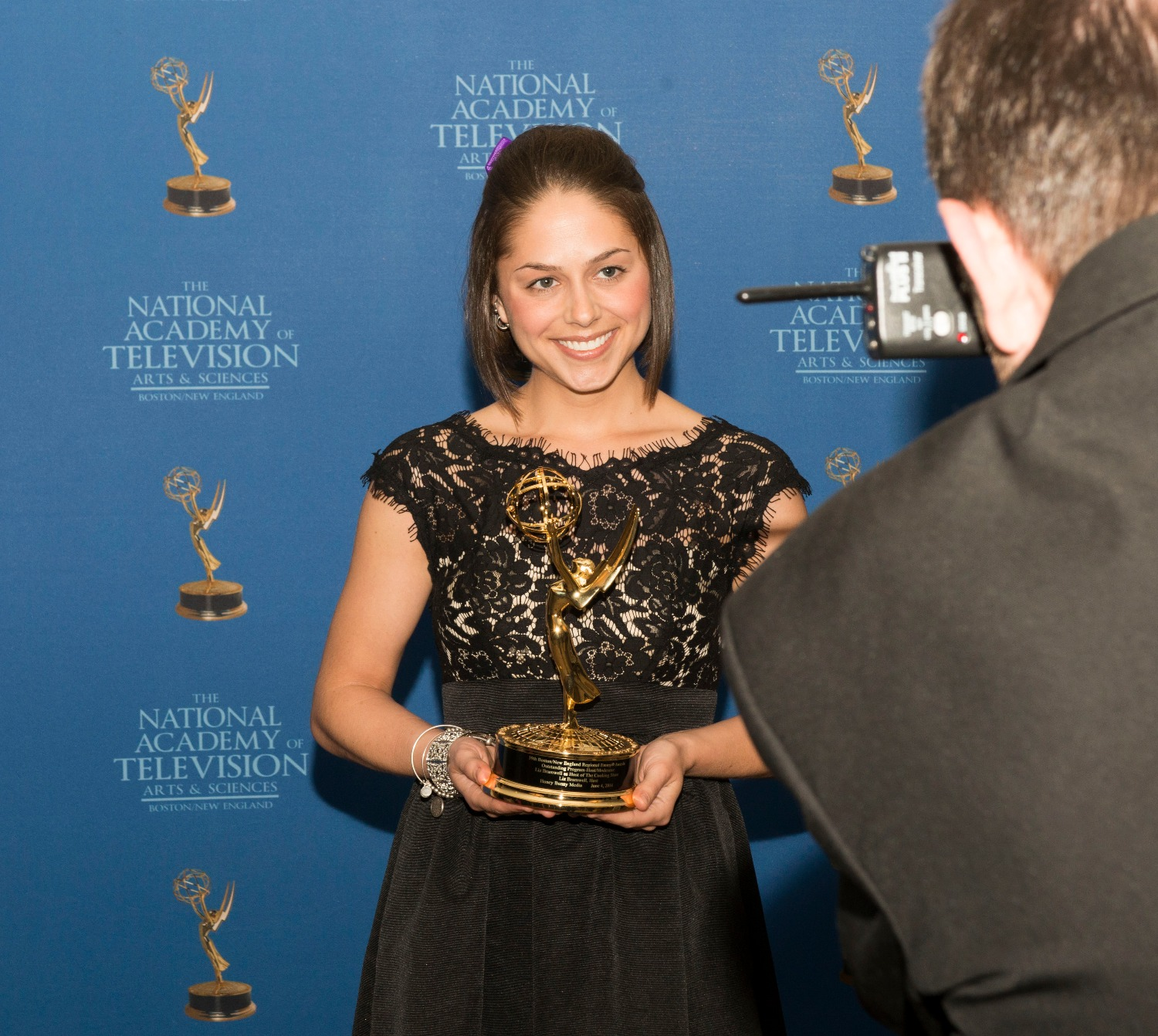 Liz with her Emmy 6-4-2016_edited