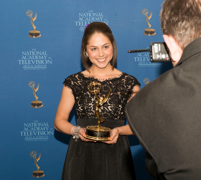 Liz with her Emmy