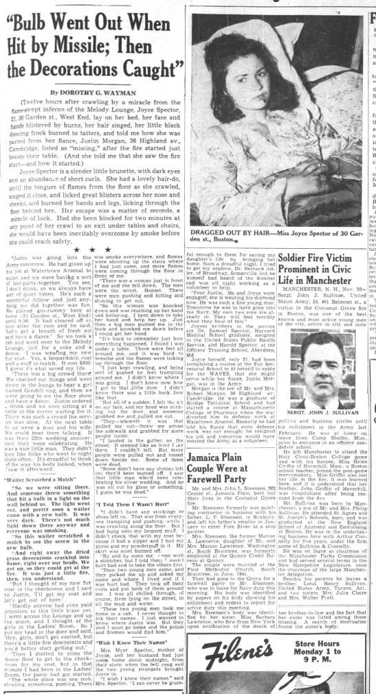 Joyce Sector, Boston Globe interview on