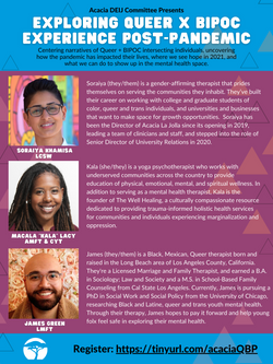 Exploring Queer x BIPOC Experience Post-Pandemic Flyer