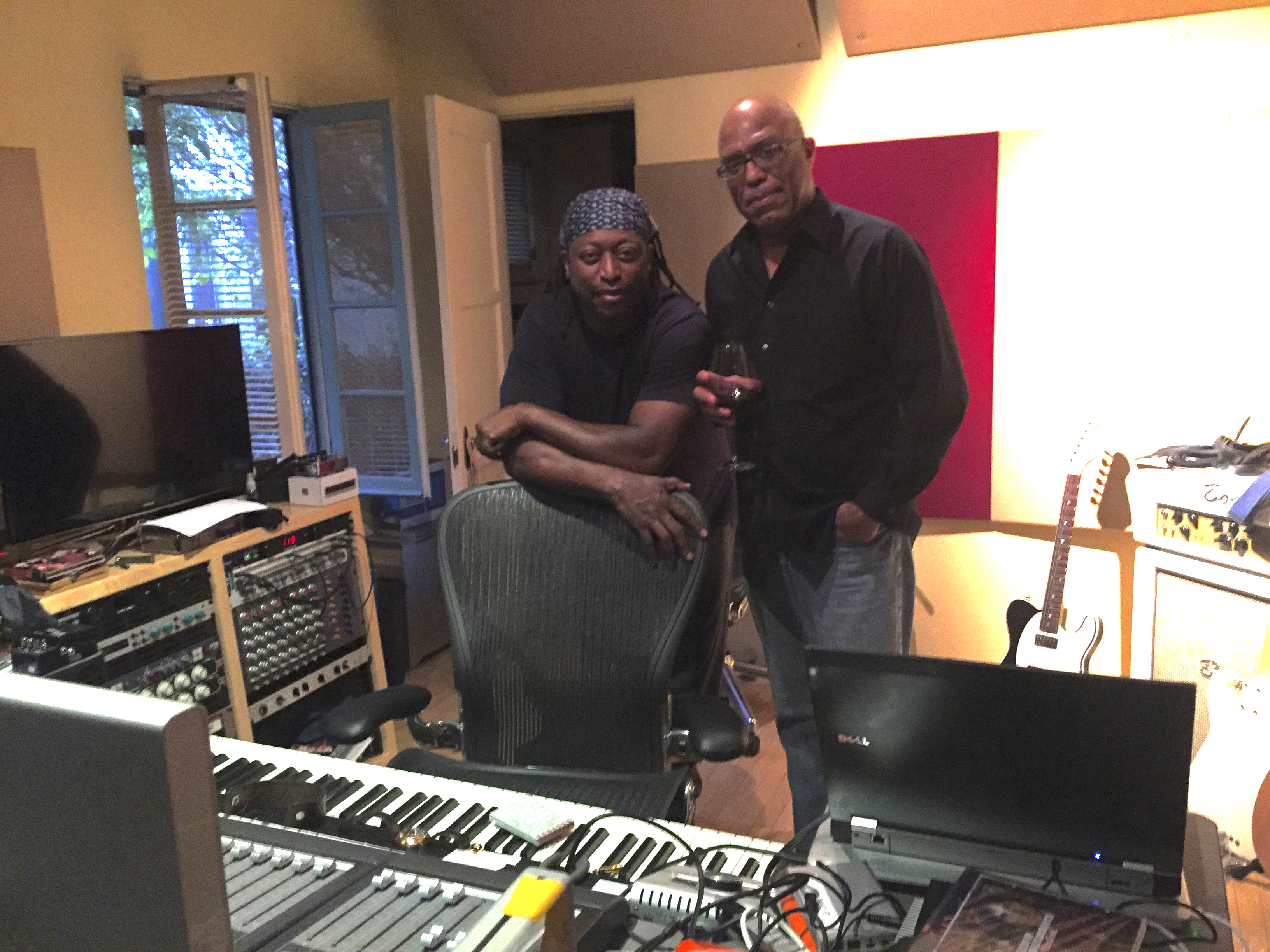 Darryl Jones and Robert Hebert in the Studio
