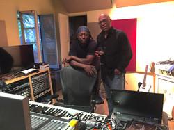 Darryl Jones and Robert Hebert in the Studio