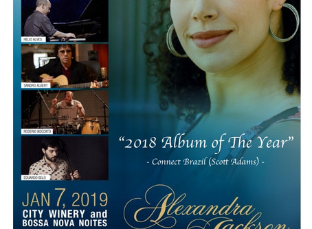 """Alexandra Jackson: Legacy & Alchemy"" is Connect Brazil's 2018 Album of the Year"
