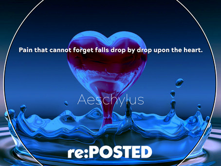 Pain that cannot forget falls drop by drop upon the heart.