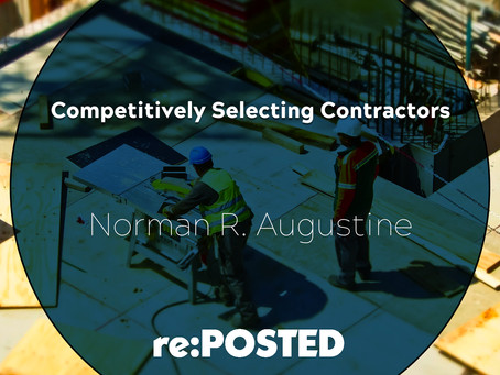 Competitively Selecting Contractors