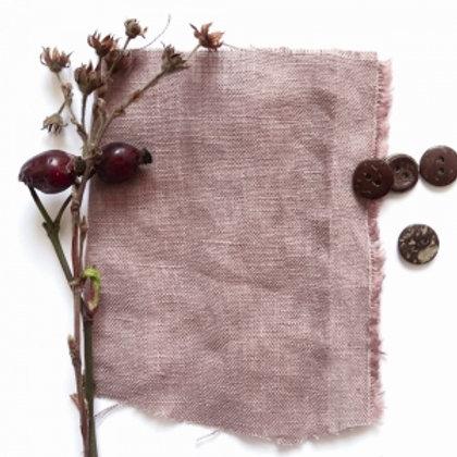 100% Linen Dusty Rose reusable fabric gift wrap