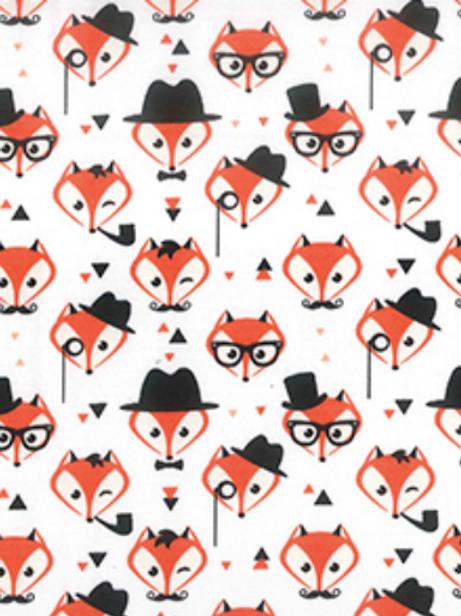 Orange Fox Rose & Hubble reusable gift wrap - furoshiki