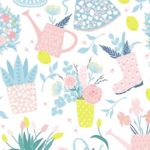 Spring reusable gift wrap - furoshiki