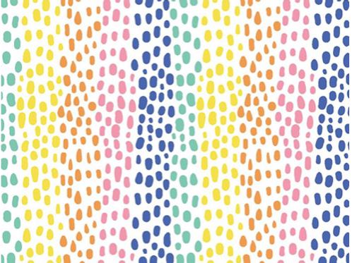 Cotton Rainbow dots reusable gift wrap - furoshiki