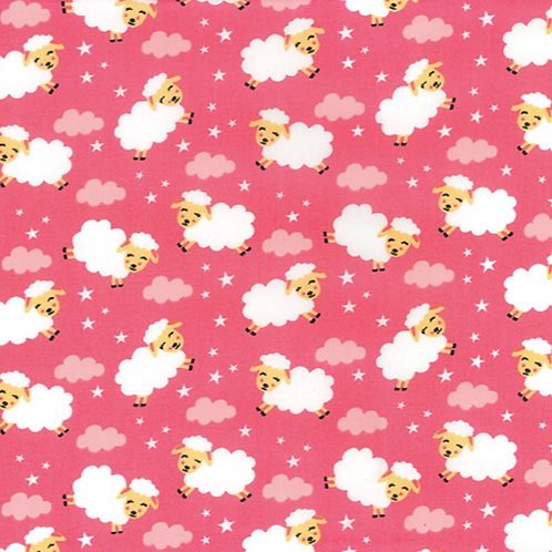 Pink Sheep Rose & Hubble reusable fabric gift wrap/scarf