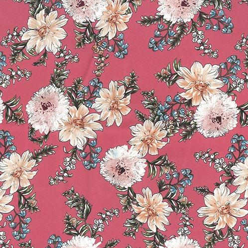 John Louden Cotton Flowers reusable fabric gift wrap