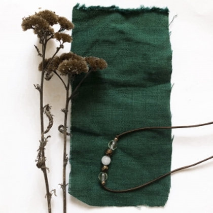 100% Linen Dark Green reusable fabric gift wrap