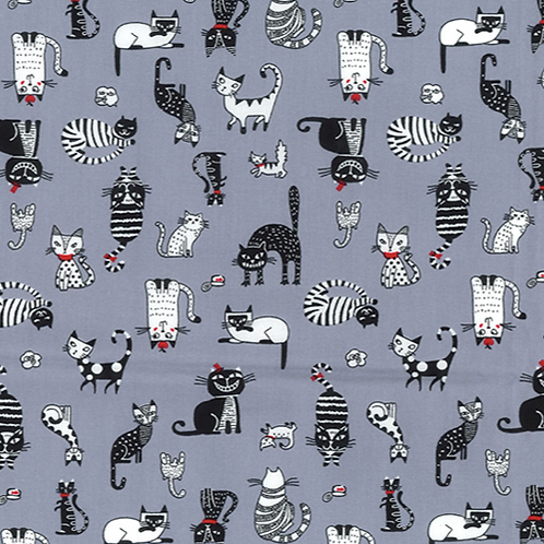 Graphite Cats Rose & Hubble reusable fabric gift wrap/scarf