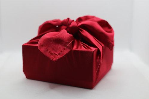 Red satin - reusable fabric furoshiki gift wrap