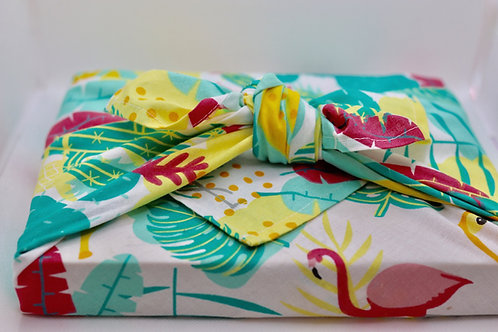 Caribbean reusable cotton fabric gift wrap