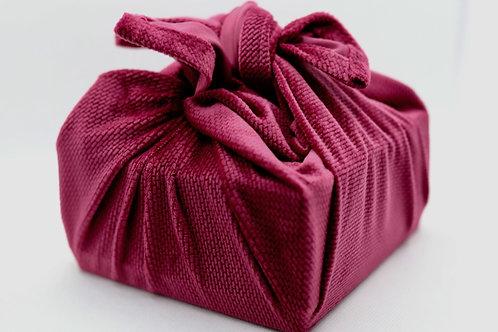 Velvet reusable fabric furoshiki gift wrap