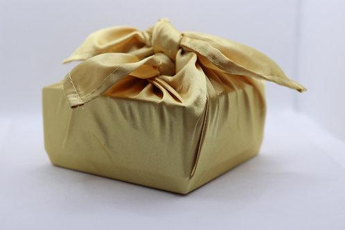 Gold satin - reusable fabric furoshiki gift wrap