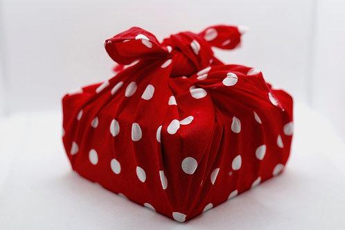 Timeless polka dot cotton gift wrap