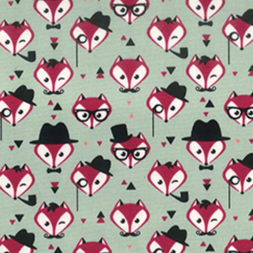 Pink Fox Rose & Hubble reusable gift wrap - furoshiki