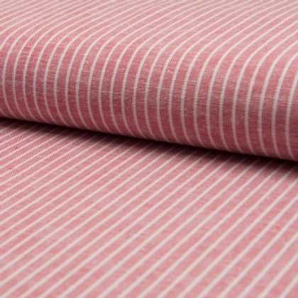 Linen + Viscose Pink Stripes reusable fabric gift wrap