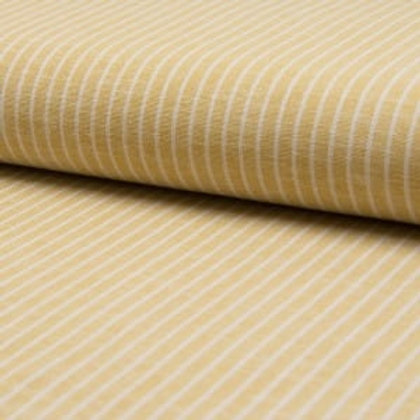 Linen + Viscose Yellow Stripes reusable fabric gift wrap