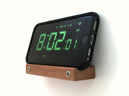 Wall Alarm Clock Phone Stand for iPhone