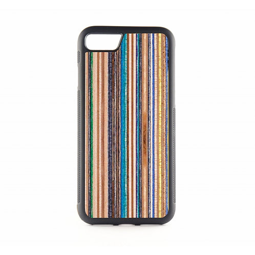Blue Recycled Skateboards Wood Phone case
