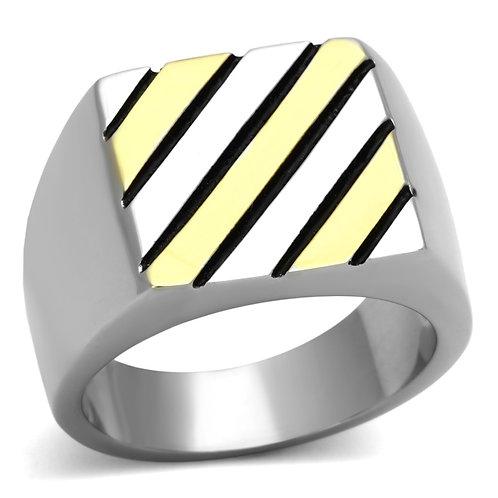 Men Stainless Steel Stripes