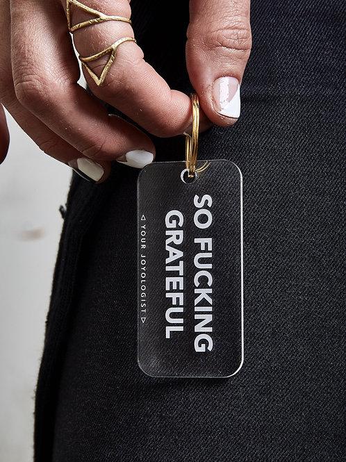 So Grateful - key chain