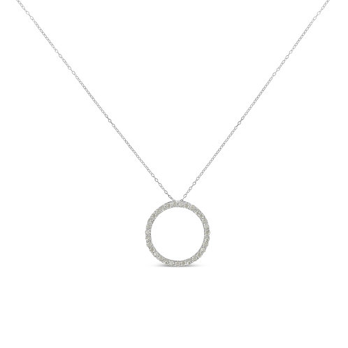 Sterling-Silver 3/4ct TDW Diamond Pendant Necklace